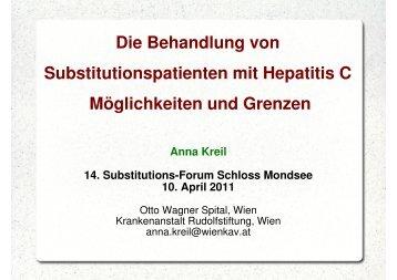 Die Behandlung von Substitutionspatienten mit Hepatitis C ...