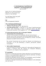 """4. interdisziplinärer Qualitätszirkel """"Hepatitis C und Drogengebrauch"""""""