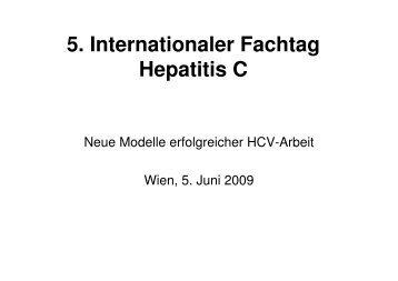 5. Internationaler Fachtag Hepatitis C