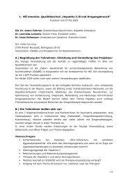 """1. NÖ interdisz. Qualitätszirkel """"Hepatitis C/B und ... - ögabs"""