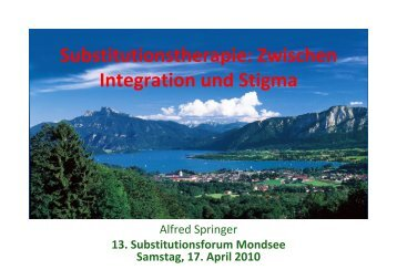 Substitutionstherapie: Zwischen Integration und Stigma