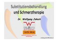 Substitutionsbehandlung und Schmerztherapie (W.Jaksch)