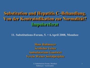 Impulsreferat Substitution und Hepatitis C - ögabs