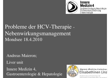 Hep. C Nebenwirkungen (A. Maieron)
