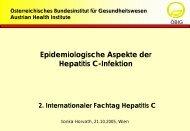 Epidemiologische Aspekte der Hepatitis C-Infektion