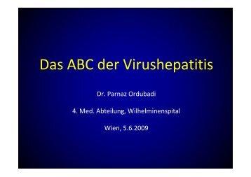 Das ABC der Virushepatitis