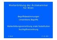 Weiterbildung der Ärztekammer für Wien