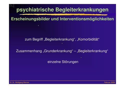 psychiatrische Begleiterkrankungen