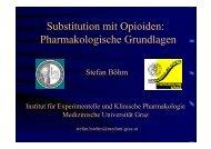 Substitution mit Opioiden: Pharmakologische Grundlagen