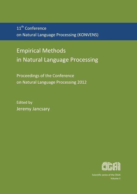 Proceedings - Österreichische Gesellschaft für Artificial Intelligence