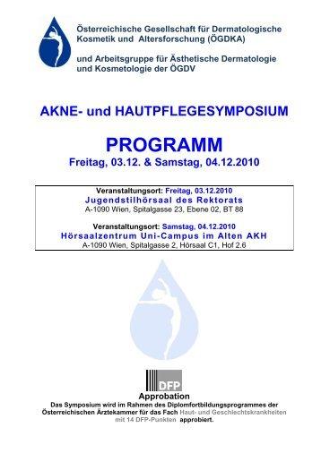 Programm - Österreichische Gesellschaft für Dermatologische ...