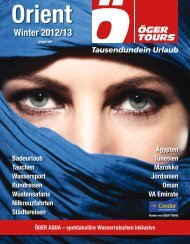 Orient Winter 2012/13 - Öger Tours