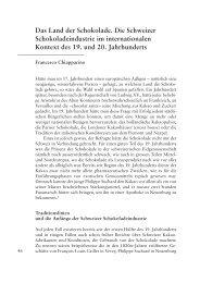 Das Land der Schokolade - Berner Zeitschrift für Geschichte