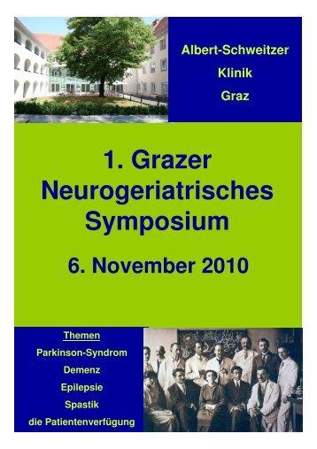 1. Grazer Neurogeriatrisches Symposium