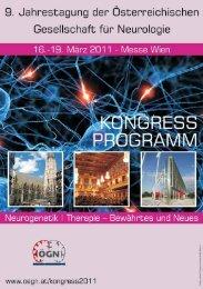 kongressprogramm - Österreichische Gesellschaft für Neurologie
