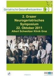 2. Grazer Neurogeriatrisches Symposium 22. Oktober 2011
