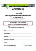 1. Grazer Neurogeriatrisches Symposium 6. November 2010 - Seite 3