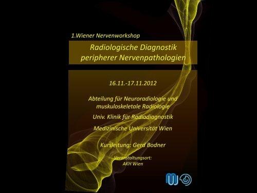 Radiologische Diagnostik peripherer Nervenpathologien
