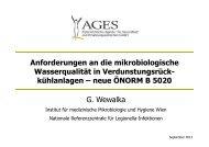 Anforderungen an die mikrobiologische Wasserqualität in ...