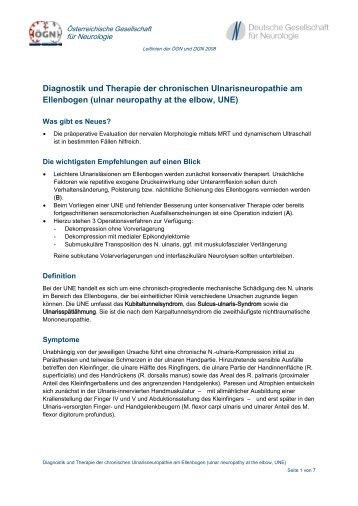 ulnar neuropathy at the elbow, UNE - Österreichische Gesellschaft ...