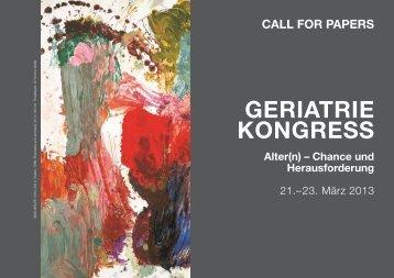 GeriAtrie konGress - Österreichische Gesellschaft für Neurologie