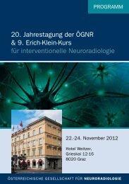 20. Jahrestagung der ÖGNR & 9. Erich-Klein-Kurs für ...
