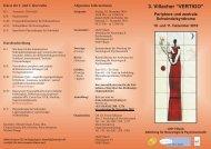 """3. Villacher """"VERTIGO"""" Periphere und zentrale Schwindelsyndrome"""