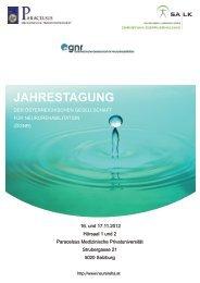 ÖGNR Jahrestagung 2012 final - Österreichische Gesellschaft für ...