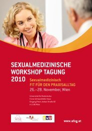 SEXUALMEDIZINISCHE WORKSHOP TAGUNG 2010 ...