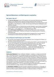 Spinale Metastasen und Meningeosis neoplastica - Österreichische ...