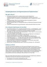 Clusterkopfschmerz und trigeminoautonome Kopfschmerzen