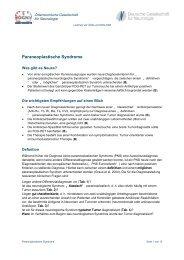 Paraneoplastische Syndrome - Österreichische Gesellschaft für ...