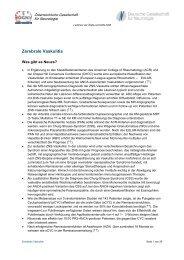 Zerebrale Vaskulitis - Österreichische Gesellschaft für Neurologie