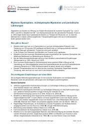 Myotone Dystrophien, nichtdystrophe Myotonien und periodische ...