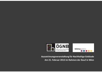 Fotos Auszeichnungsveranstaltung 2013 - ÖGNB