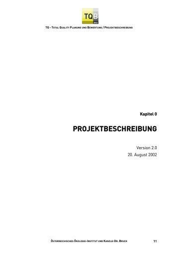 Allgemeine Projektbeschreibung in TQ