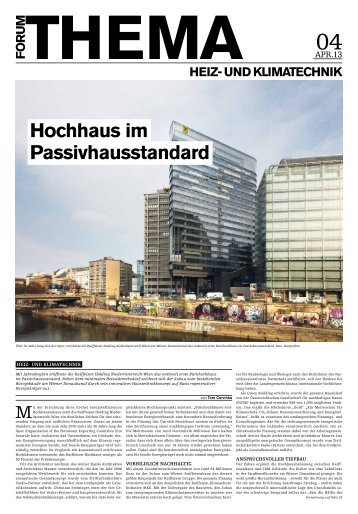 Raiffeisen Passiv-Hochhaus, in: FORUM April 2013 - ÖGNB