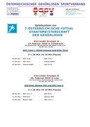 7.österreichische futsal staatsmeisterschaft der gehörlosen