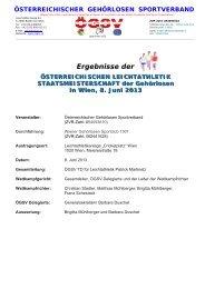 Ergebnis - Österreichischer Gehörlosen Sportverband