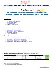 Ergebnis zur - Österreichischer Gehörlosen Sportverband