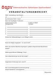 veranstaltungsbericht - Österreichischer Gehörlosen Sportverband