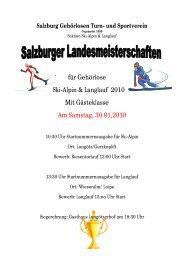 für Gehörlose Ski-Alpin & Langlauf 2010 Mit Gästeklasse Am ...