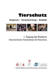 1. Tagung der Plattform - Veterinärmedizinische Universität Wien