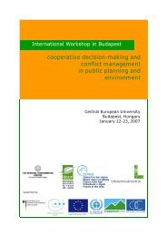 cooperative decision-making and conflict management in ... - ÖGUT