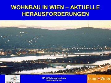 """""""Wohnbau in Wien - Aktuelle Herausforderungen"""", Wolfgang Förster"""