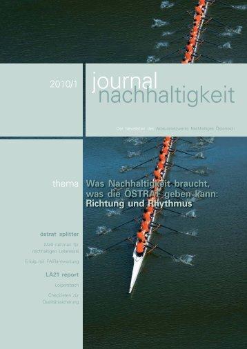journal nachhaltigkeit 1/2010 - Nachhaltigkeit.at