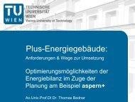 Optimierungsmöglichkeiten der Energiebilanz im Zuge der Planung