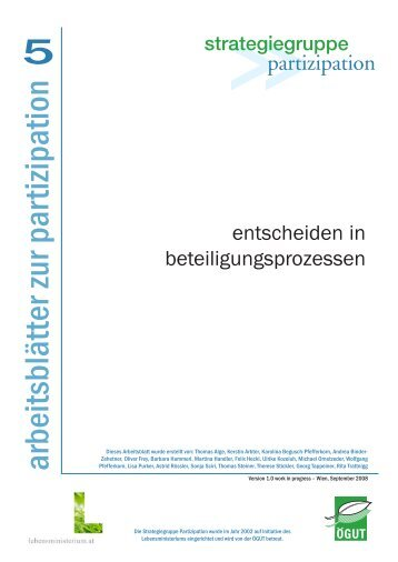 Arbeitsblatt Nr. 1 downloaden (PDF, 129 KB) - Partizipation