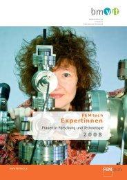 Broschüre FEMtech Expertinnen 2008