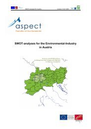 SWOT-analyses for the Environmental-Industry in Austria - ÖGUT